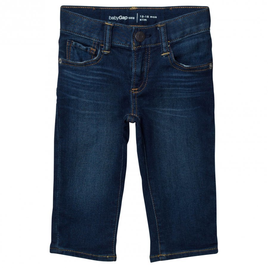 Gap High Stretch Super Soft Slim Jeans Dark Wash Indigo Farkut