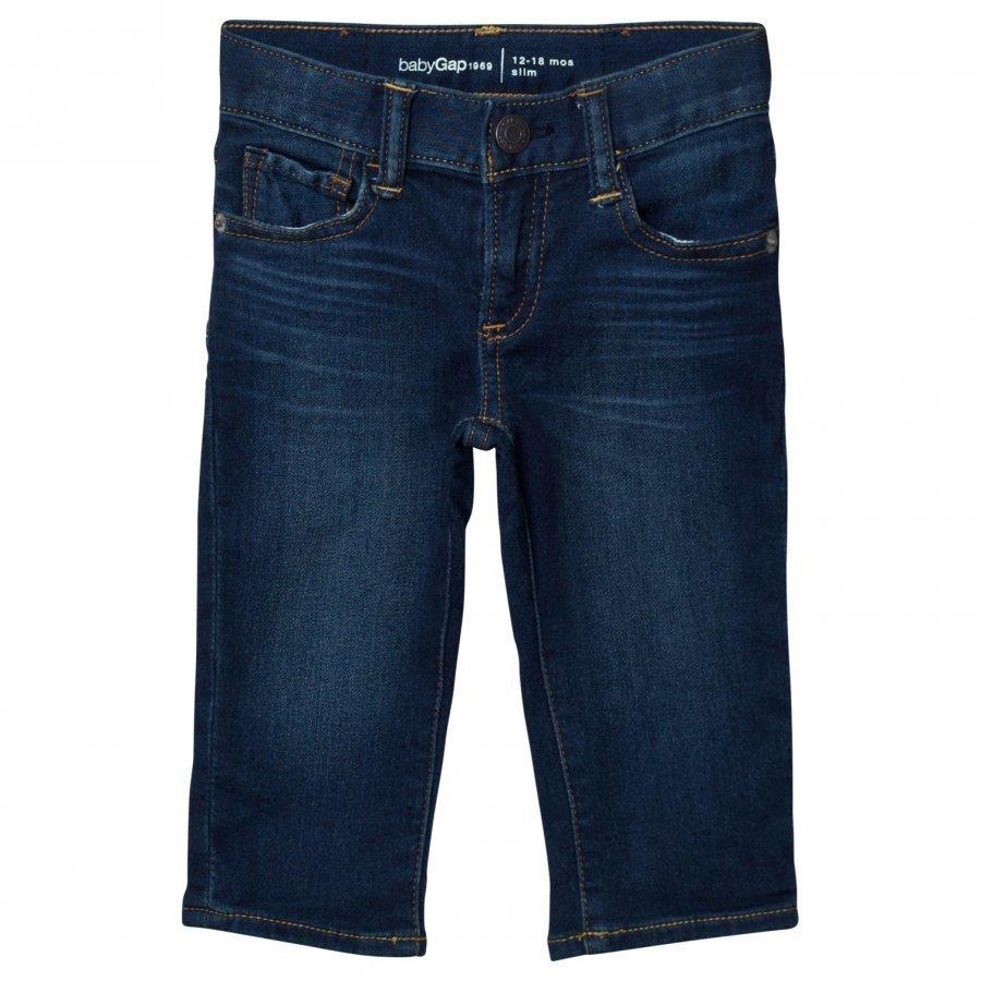 Gap High Stretch Super Soft Slim Jeans Dark Wash Indigo Farkut