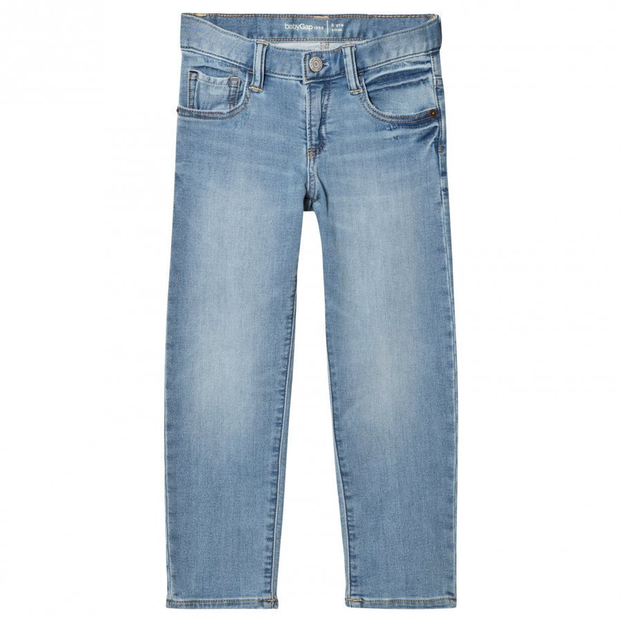 Gap High Stretch Super Soft Slim Jeans Light Wash Farkut