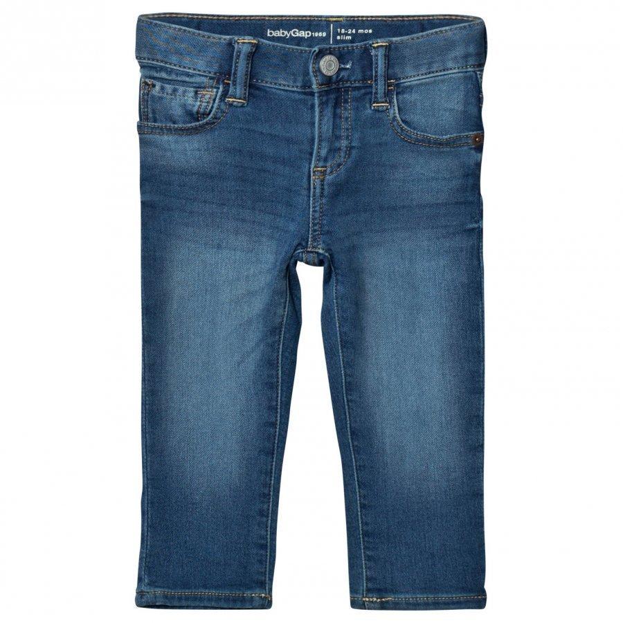 Gap High Stretch Super Soft Slim Jeans Medium Wash Farkut