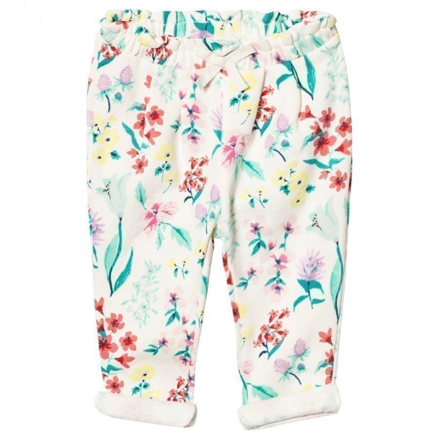 Gap Jacquard Floral Pants Ivory Frost Verryttelyhousut