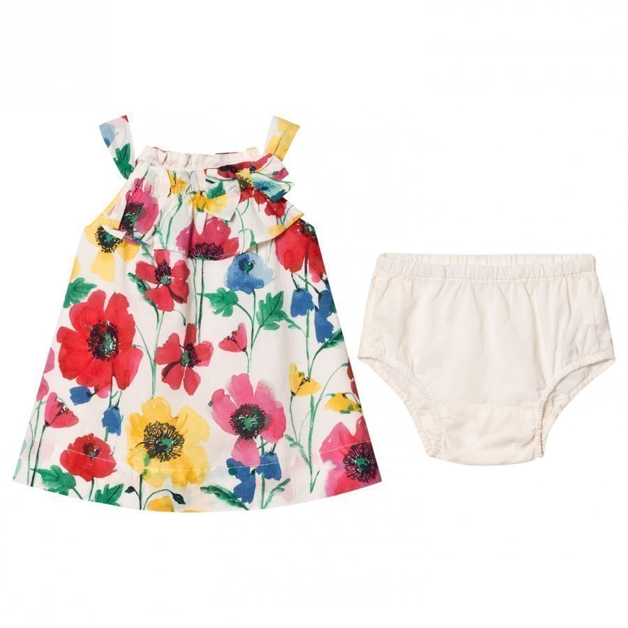 Gap Little Artist Floral Dress Ivory Frost Mekko