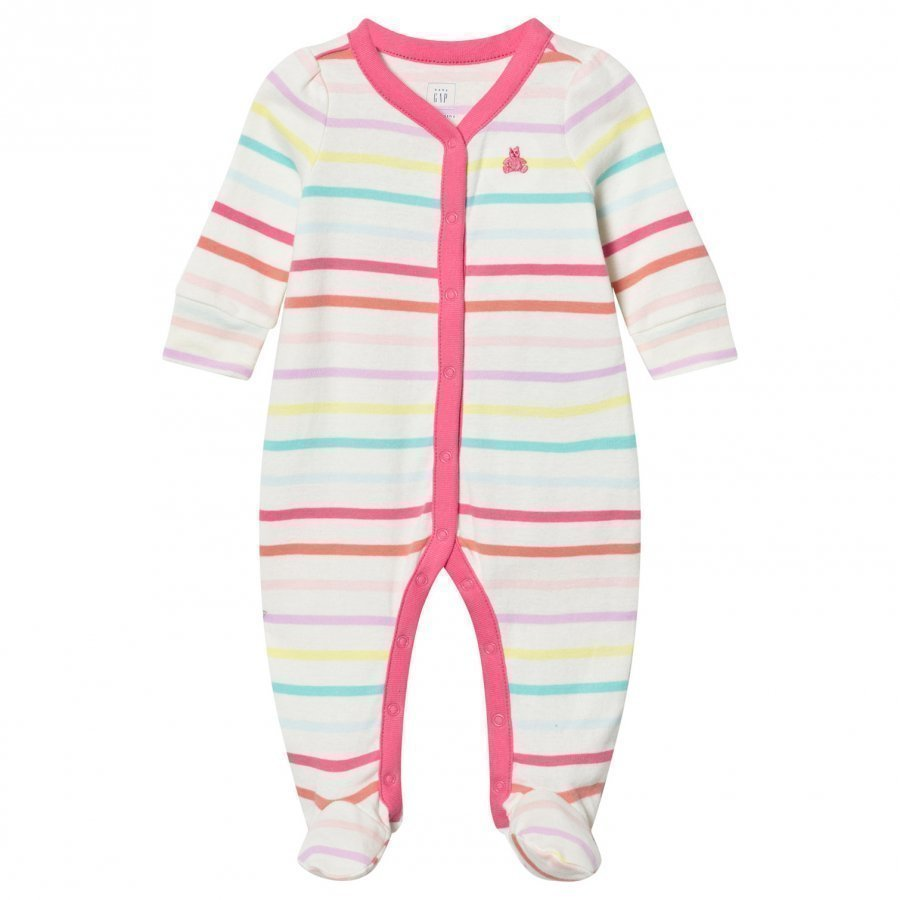 Gap Little Artist Stripes Footed Baby Body Multi Stripe Body