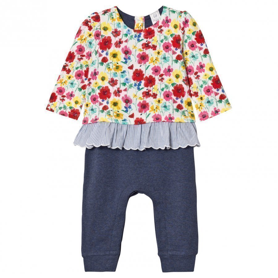 Gap Little Artist Triple-Layer One-Piece Multi Floral Asusetti