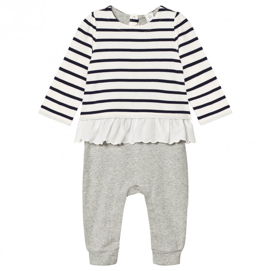 Gap Little Artist Triple-Layer One-Piece Navy Uniform Asusetti