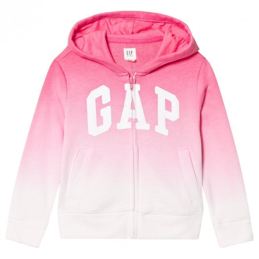 Gap Logo Dip-Dye Zip Hoodie Pink T-Paita