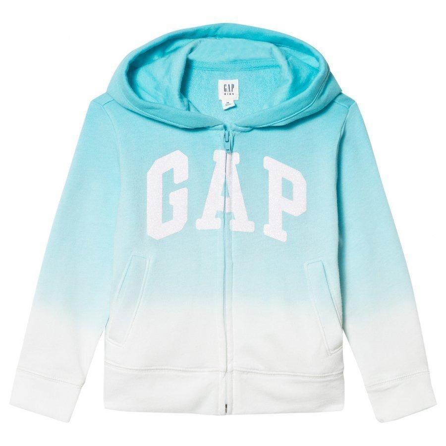 Gap Logo Dip-Dye Zip Hoodie Turquoise T-Paita