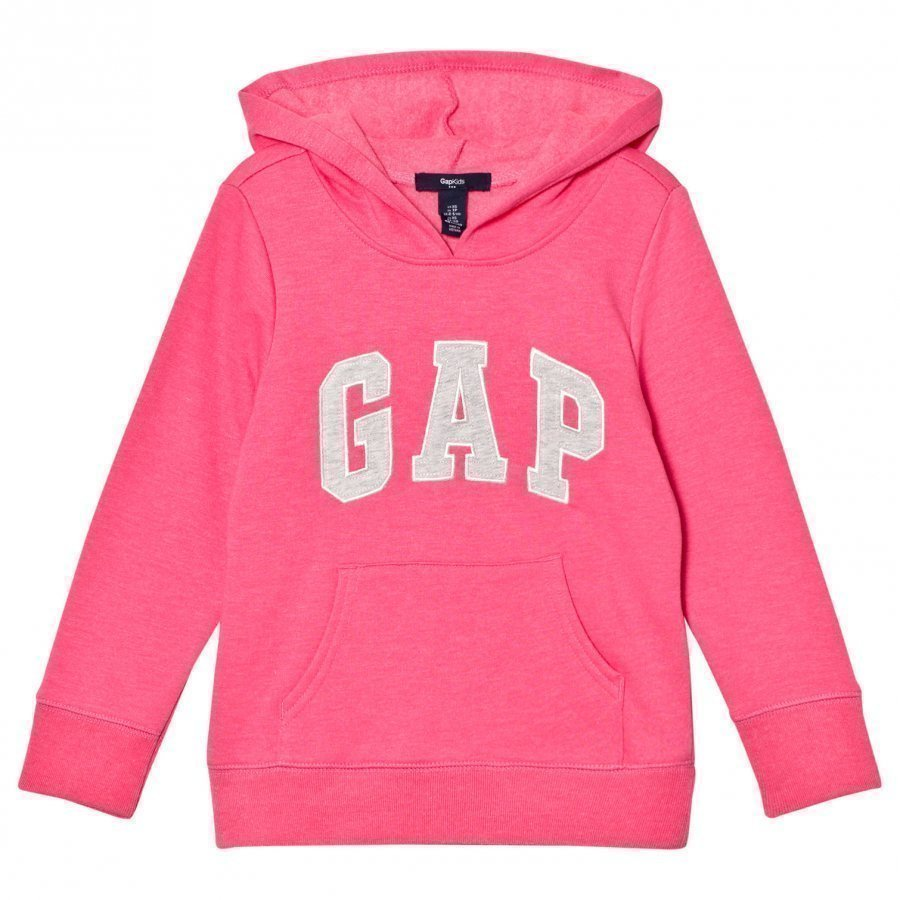 Gap Logo Hood Pink Jubilee Nylon On Huppari