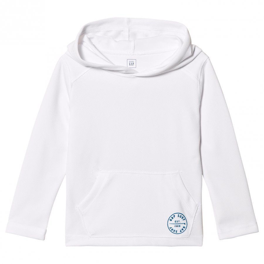 Gap Logo Pocket Hoodie Rashguard In White Huppari