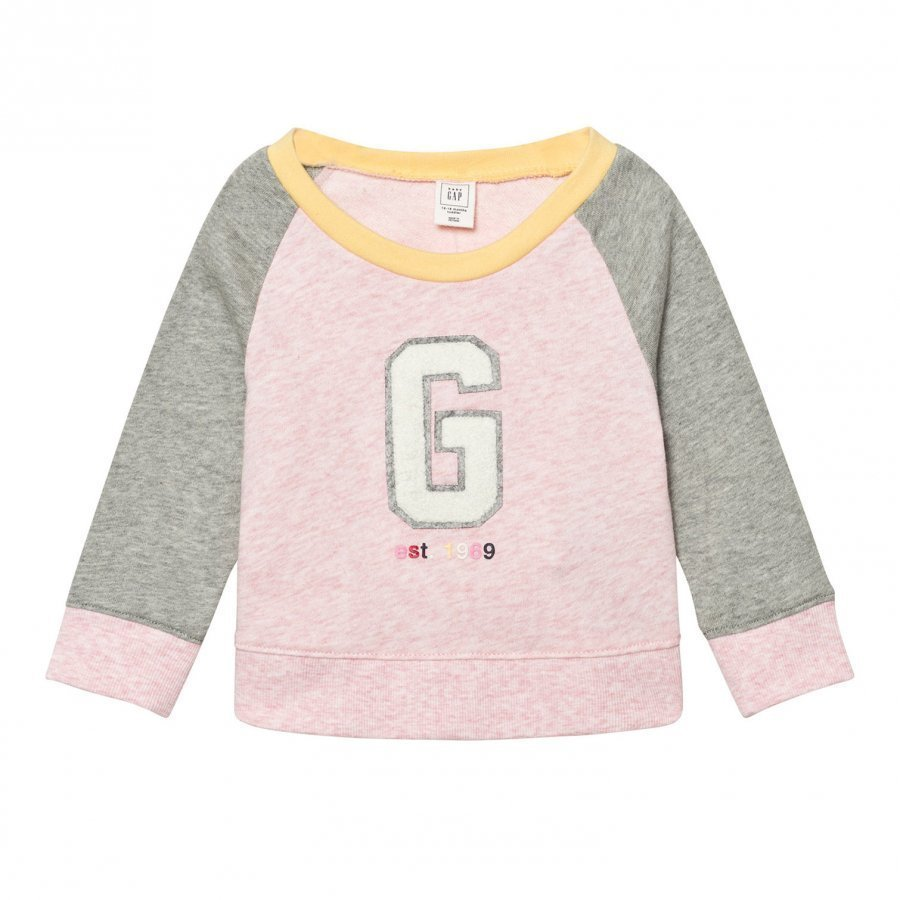 Gap Logo Raglan Crew Sweatshirt Pink Oloasun Paita