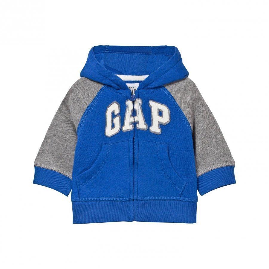Gap Logo Raglan Zip Hoodie Blue Streak Huppari