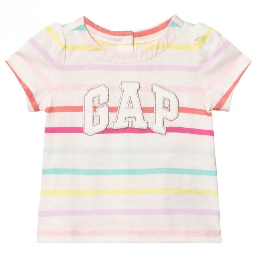 Gap Logo Stripe Short Sleeve Top Multi Stripe T-Paita