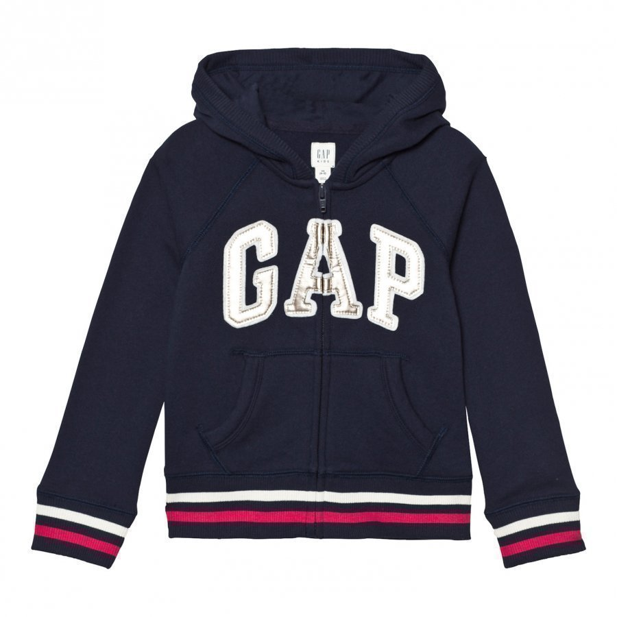 Gap Logo Terry Zip Hoodie Blue Galaxy Huppari