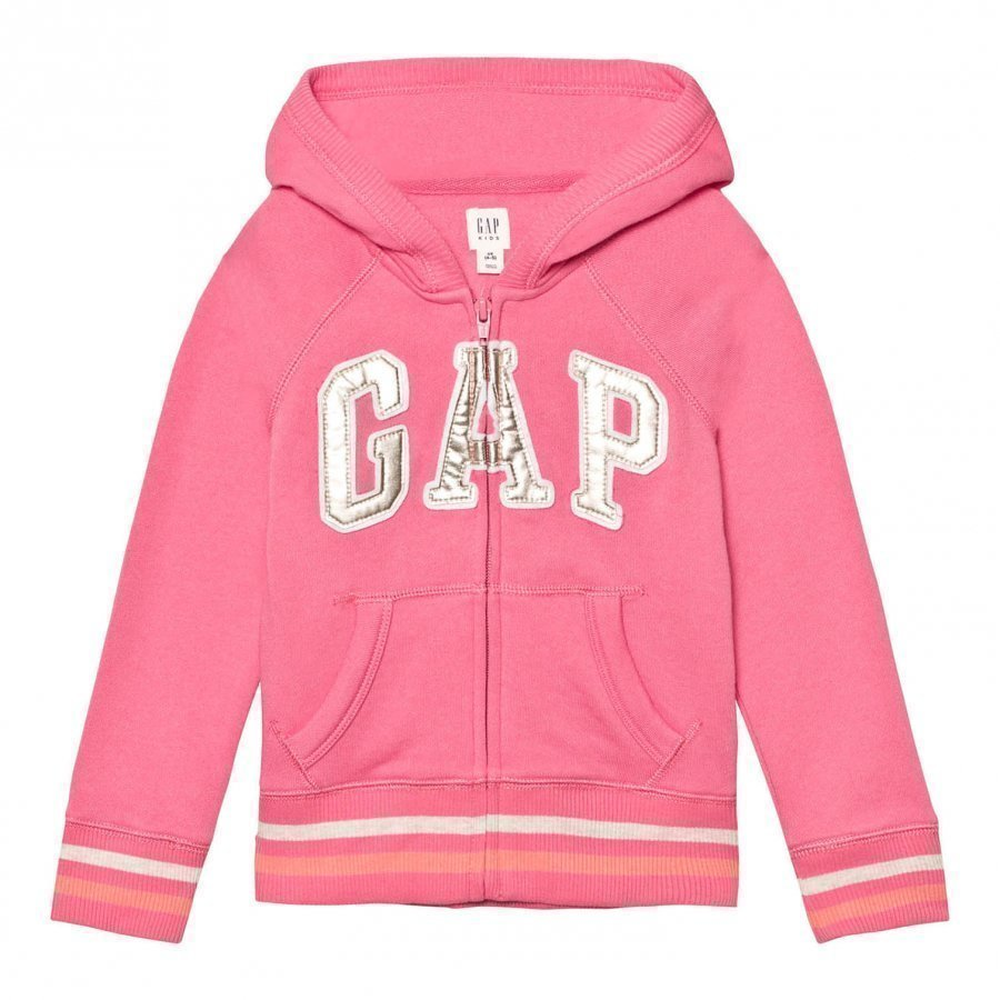 Gap Logo Terry Zip Hoodie Pixie Dust Pink Huppari