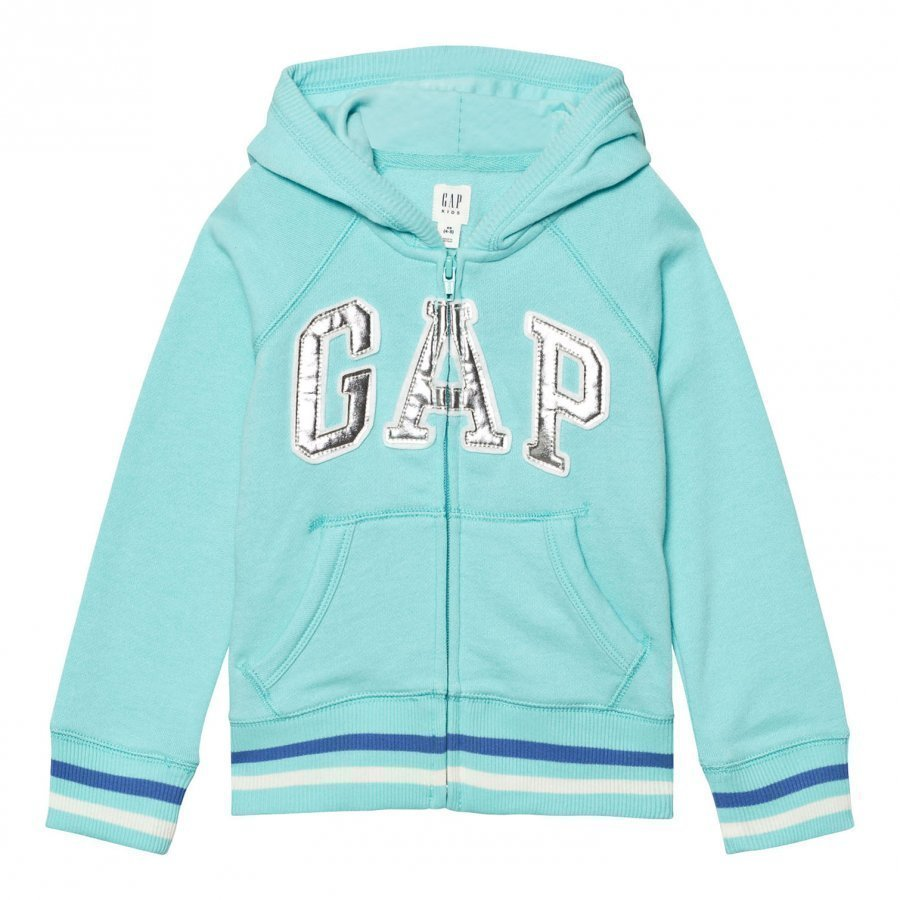 Gap Logo Terry Zip Hoodie Splash Blue Huppari