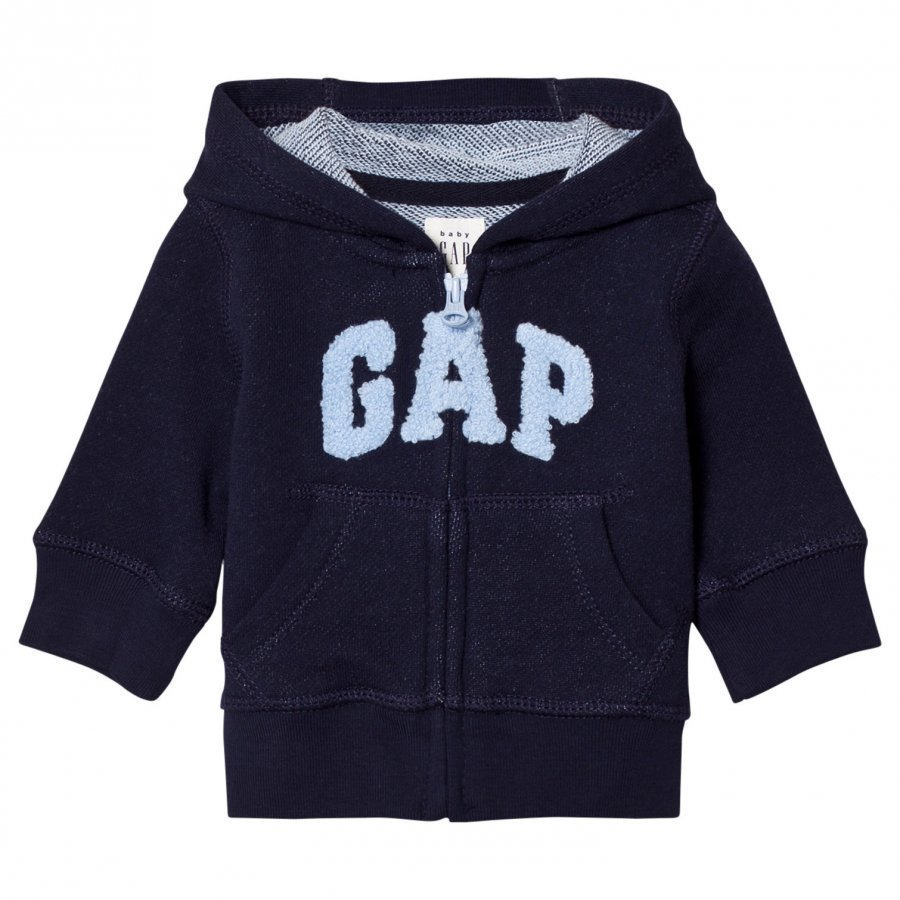 Gap Logo Zip Hoodie Navy Uniform Huppari