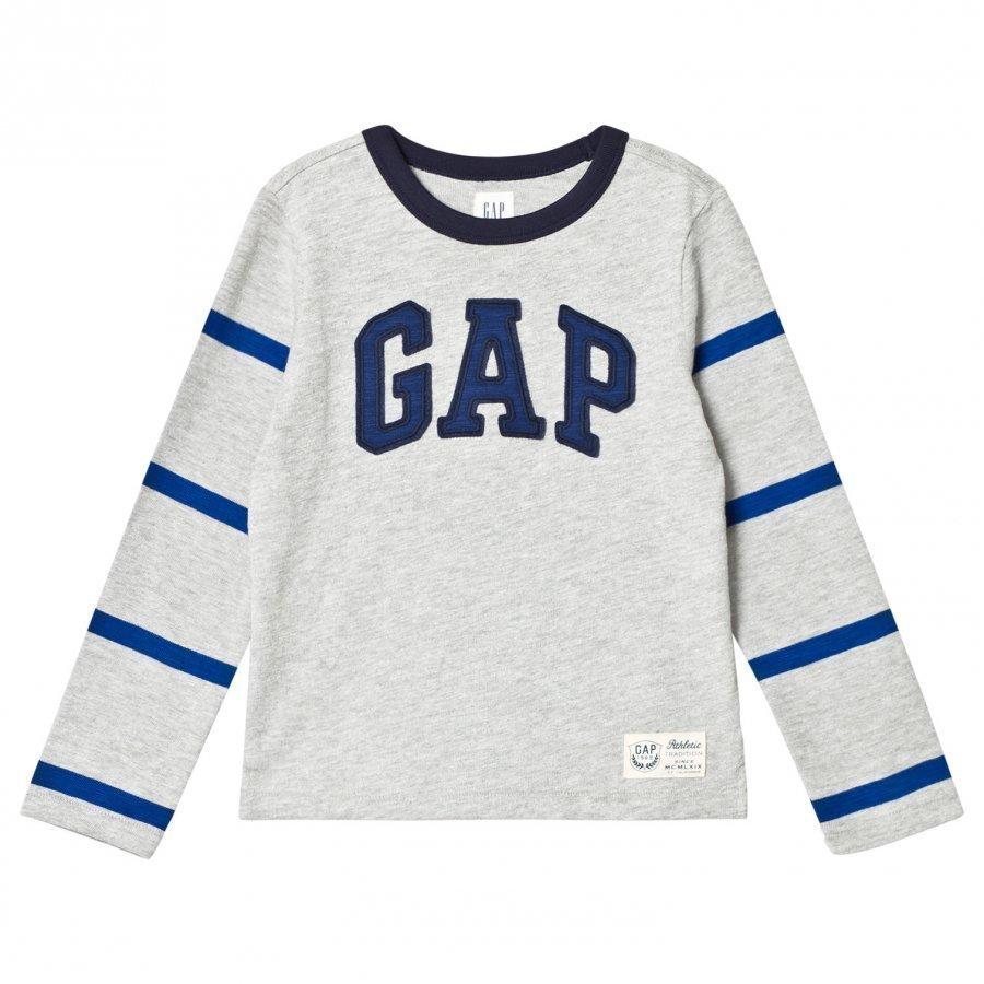 Gap Ls Gap Ftbl T Heather Grey Pitkähihainen T-Paita