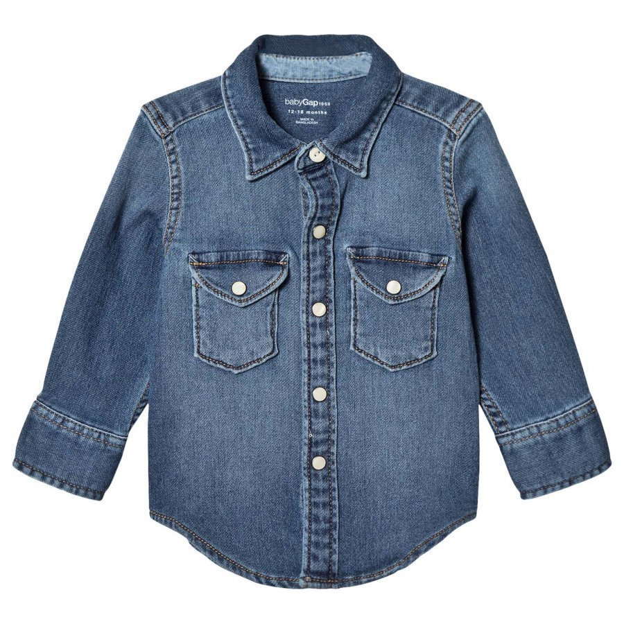 Gap Md Wstrn Shrt Medium Wash Kauluspaita