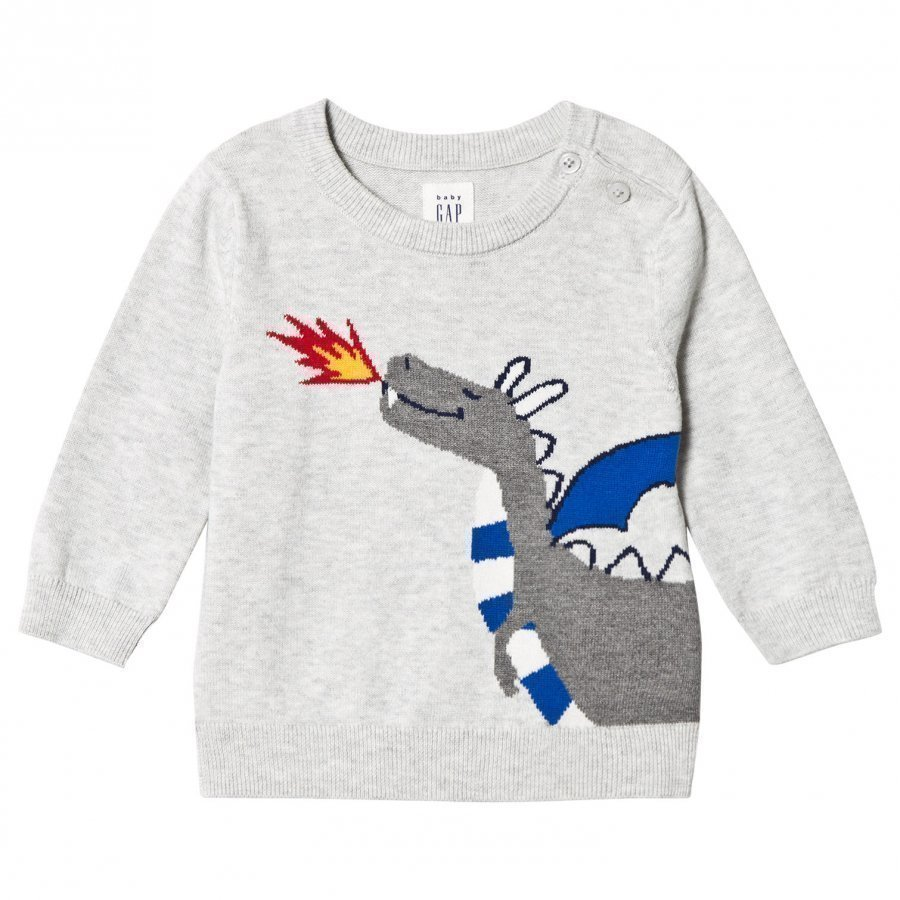 Gap Mf Intarsia Cr Grey Heather Oloasun Paita