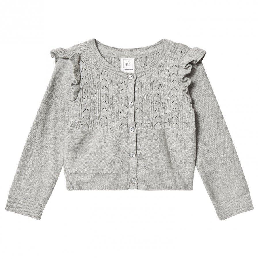 Gap Oc Layer Cardi Light Heather Grey B10 Neuletakki