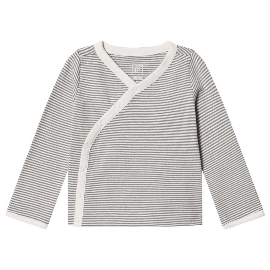 Gap Organic Kimono Top Grey Stripe Neuletakki