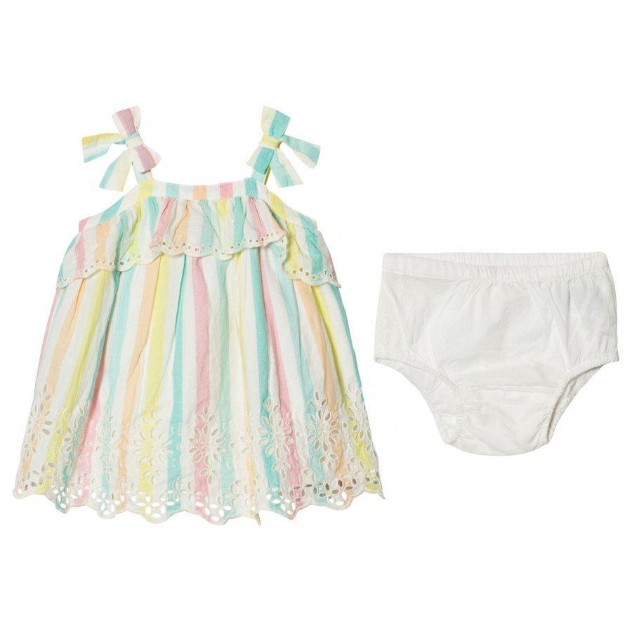 Gap Pastel Stripe Eyelet Bow Dress Mekko