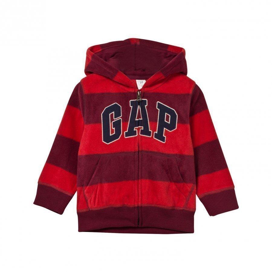 Gap Pro Fleece Logo Stripe Hoodie Red Delicious Fleece Huppari