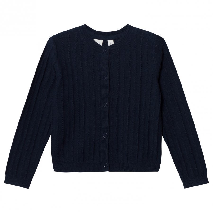 Gap Ribbed Crew Cardigan Blue Galaxy Neuletakki