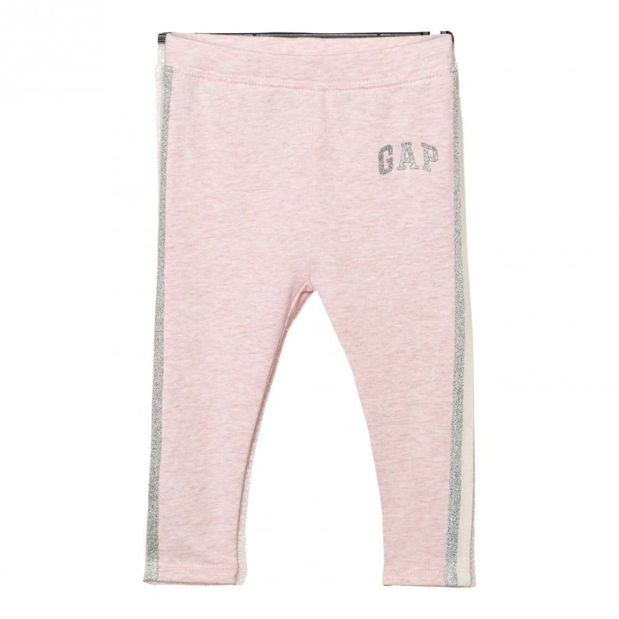 Gap Shimmer Logo Soft Terry Leggings Pink Heather Legginsit