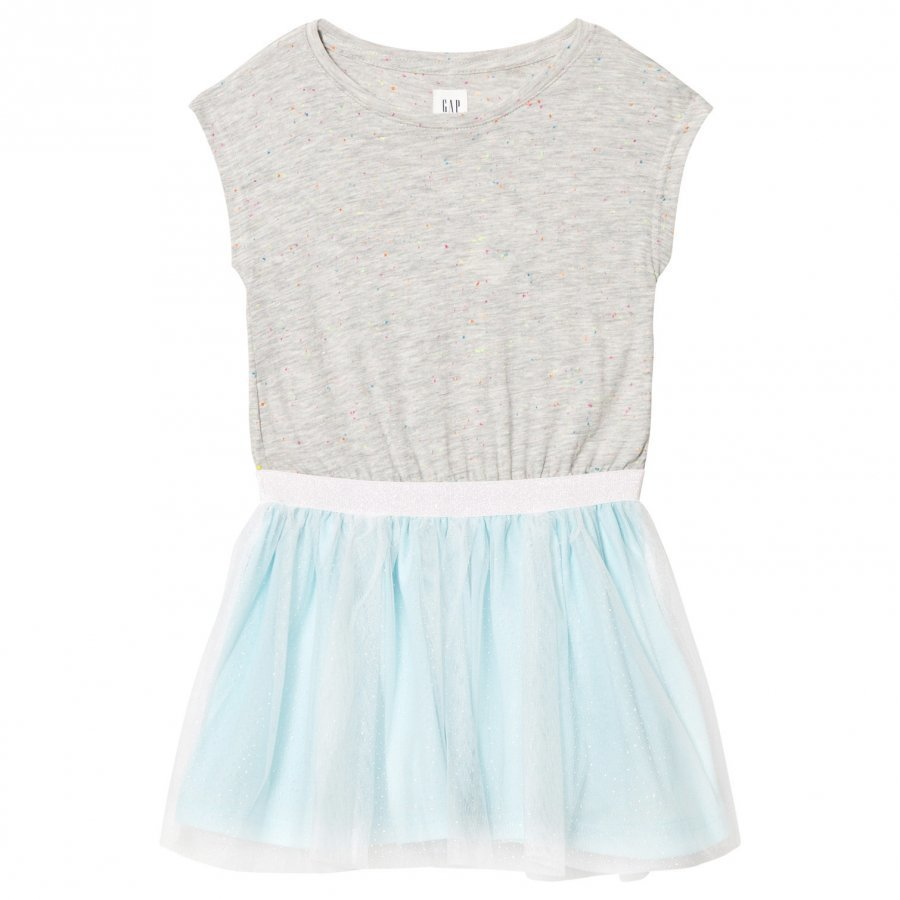 Gap Shimmer Tulle Cap Dress Aqua Mekko