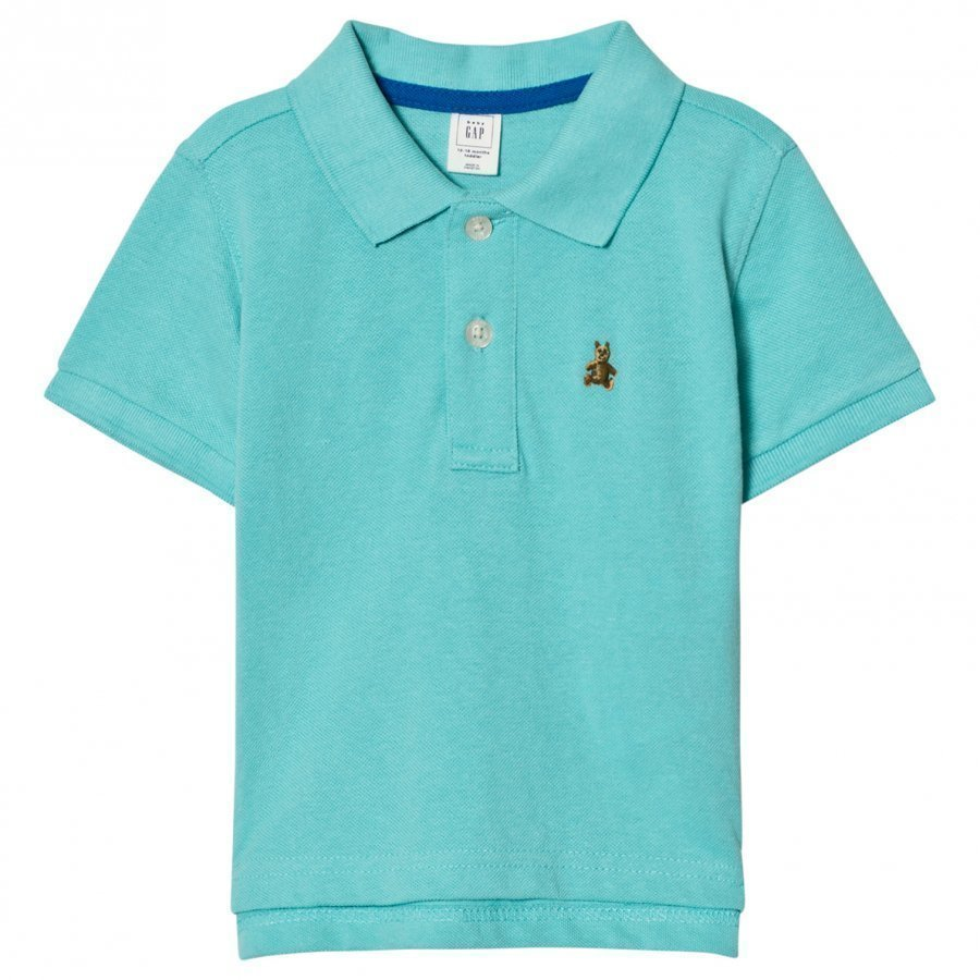Gap Short Sleeve Pique Polo In Fair Aqua Pikeepaita