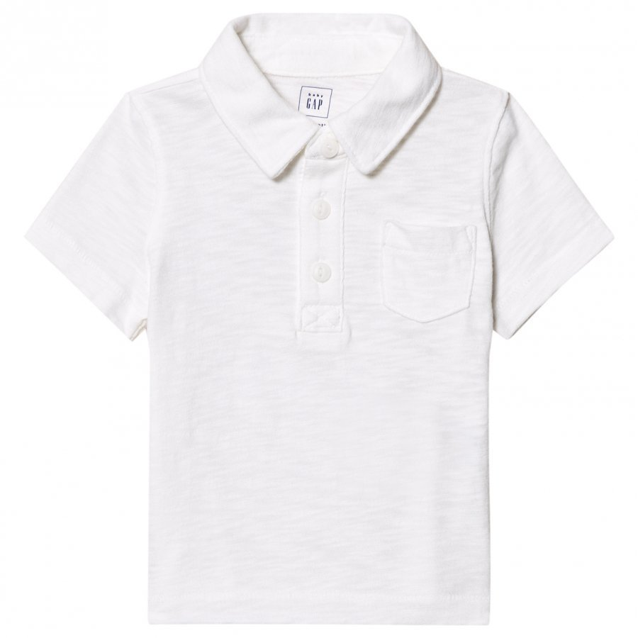Gap Short Sleeve Slub Polo White Pikeepaita