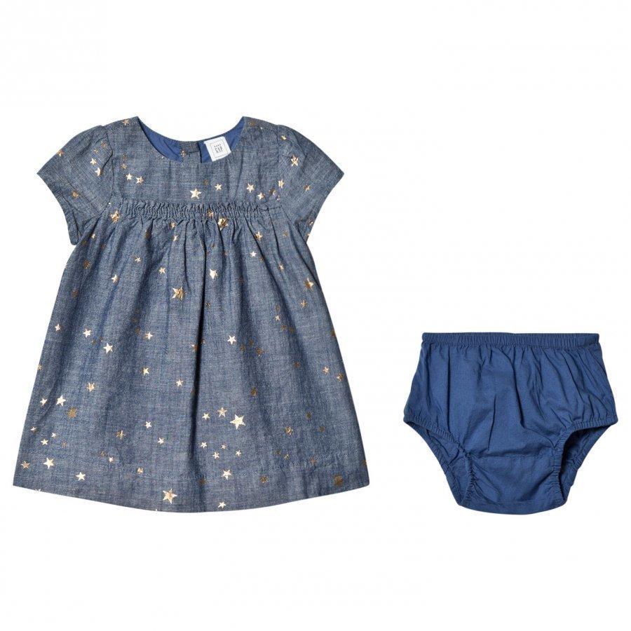 Gap Star Dnm Dress Medium Wash Mekko