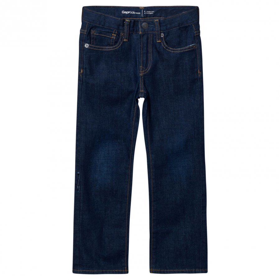 Gap Straight Stretch Jeans Dark Rinse Farkut