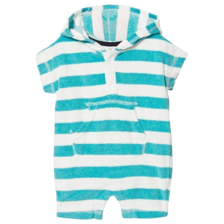 Gap Stripe Hoodie Romper New Off White Huppari