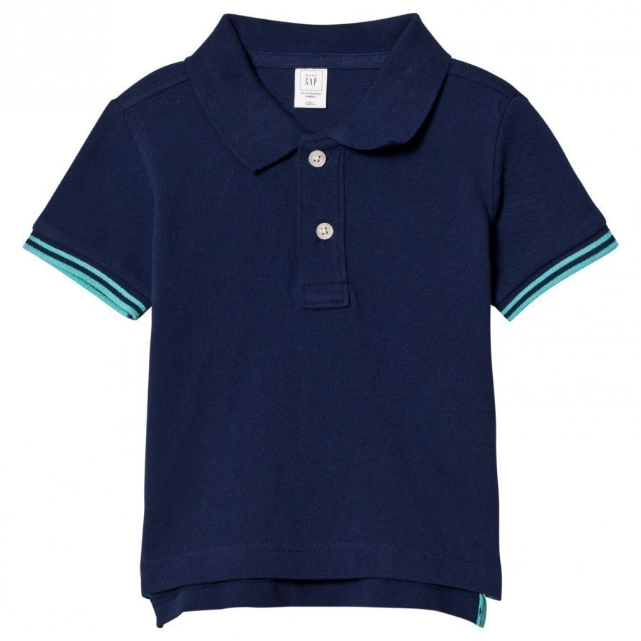 Gap Stripe Sleeve Pique Polo Elysian Blue Pikeepaita