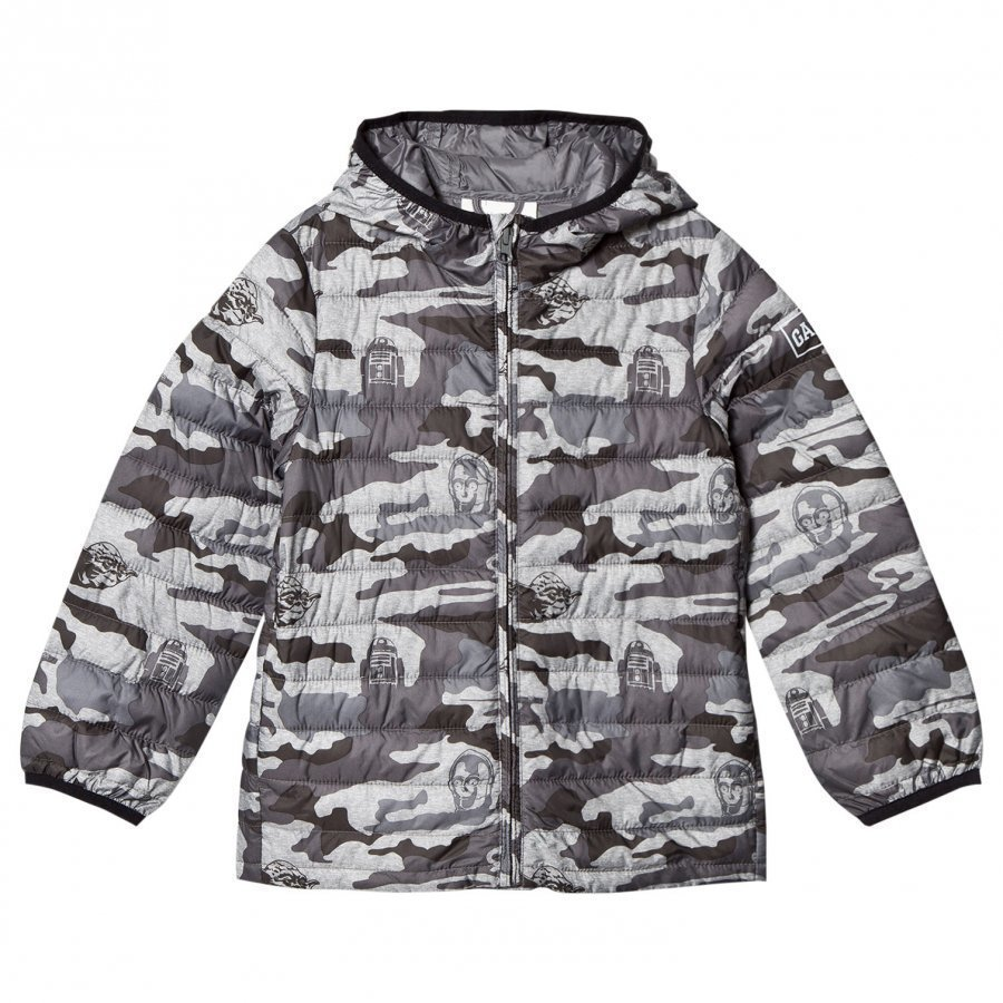 Gap Sw Puffer Jkt Heather Grey Bc04 Toppatakki