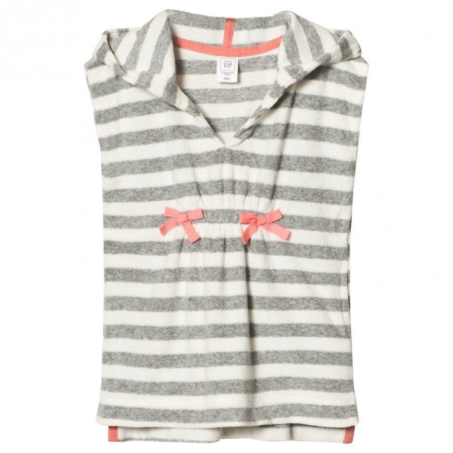 Gap Terry Hoodie Cover Up Grey Stripe Kylpytakki