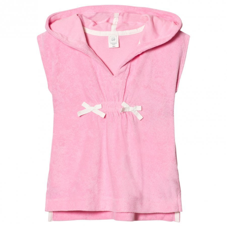 Gap Terry Hoodie Cover Up Neon Light Pink Kylpytakki