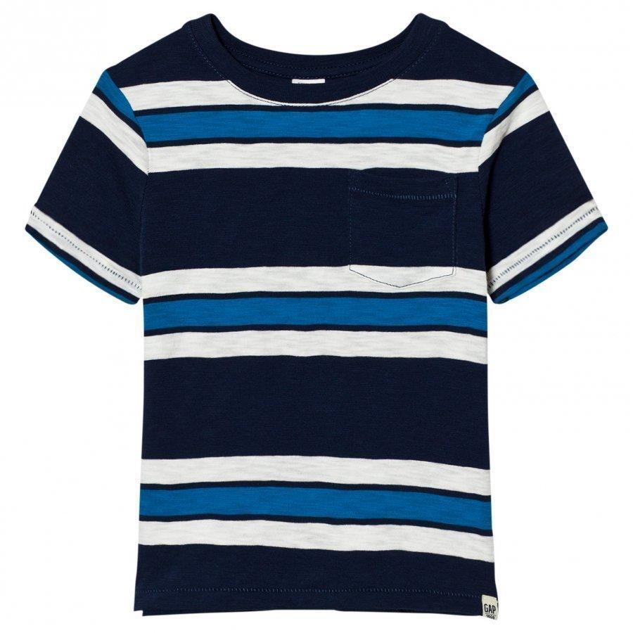 Gap Triple Stripe Pocket Slub Tee T-Paita