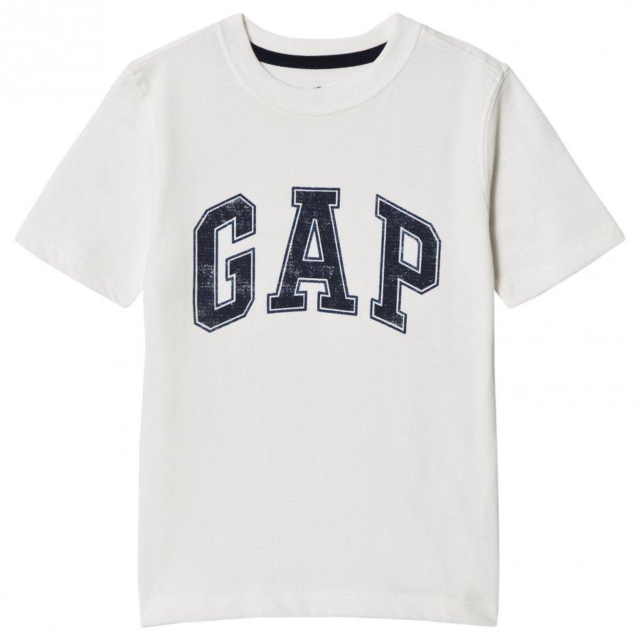 Gap V-New Arch Scr New Off White T-Paita
