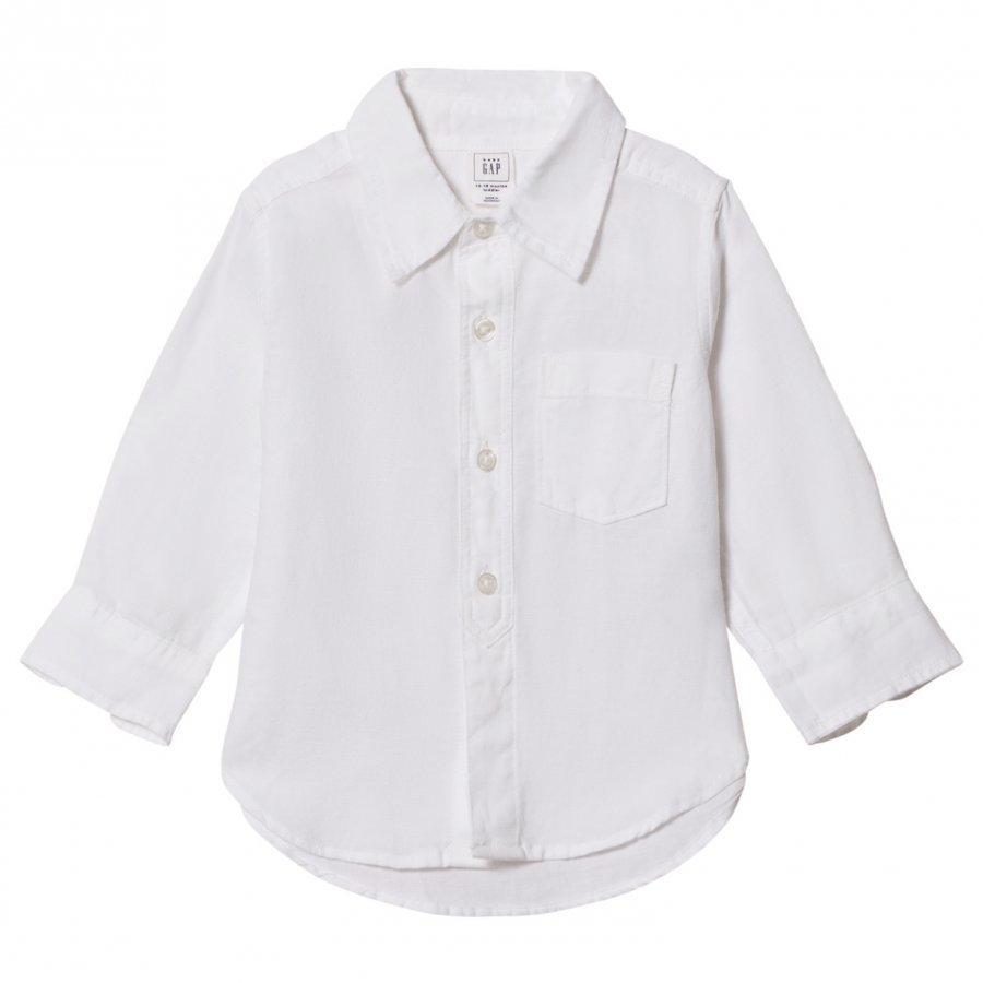 Gap White Linen Convertible Shirt Kauluspaita