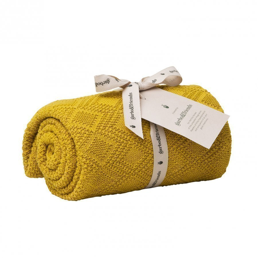 Garbo & Friends Ollie Mustard Cotton Blanket Huopa