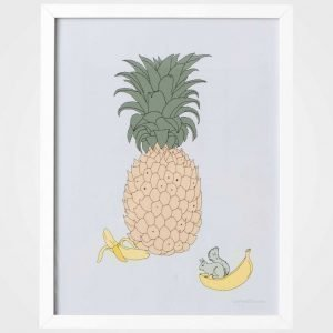 Garbo & Friends Poster Pineapple Juliste