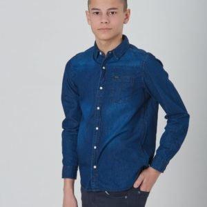 Garcia Boys Shirt Kauluspaita Sininen