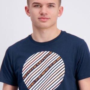 Garcia T Shirt Short Sleeve T-Paita Sininen