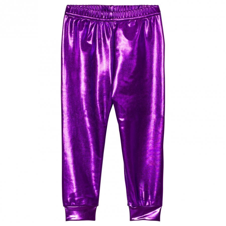 Gardner And The Gang Metallic Leggings Purple Legginsit
