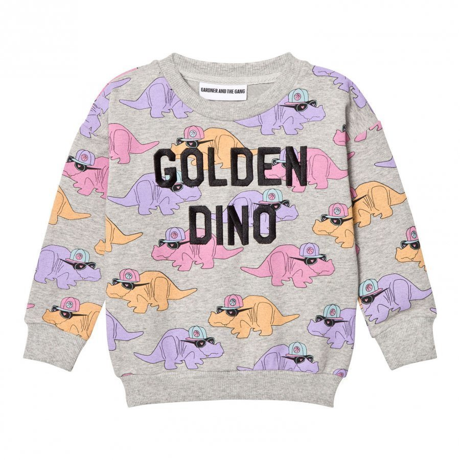 Gardner And The Gang The Classic Sweatshirt Dorthy Golden Dino Heather Grey Oloasun Paita