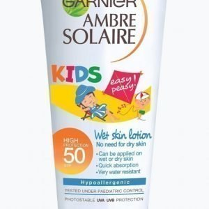 Garnier Ambre Solaire Kids Easy Peasy Wet Skin Lotion Spf 50 Aurinkovoide