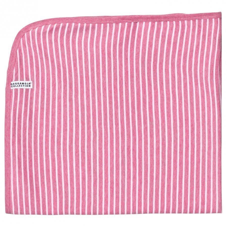Geggamoja Baby Blanket Pink Melange/White Huopa